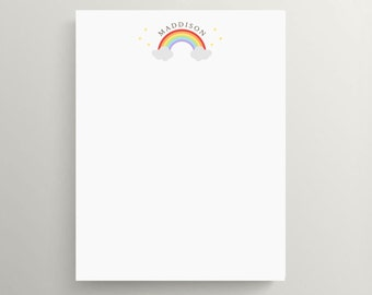 rainbow note card set // kids stationery // personal stationery // over the rainbow // card // note // thank you