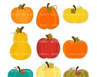ON SALE Pumpkin clipart, Pumpkins clipart,  Personal or Commercial Use, instant download