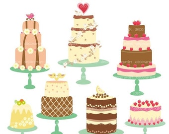 ON SALE clipart, cake clipart, Digital clipart for all use, celebrated cakes, INSTANT Download