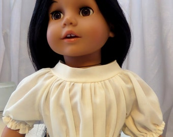 Ivory Peasant or Southwestern Ruffle Blouse - 18 Inch Doll Clothes - Doll Accessories – On Sophia's® Doll - 14014