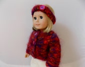 Doll Sweater and Headband Set, 18 Inch Doll Clothes, Girl Doll Outfit