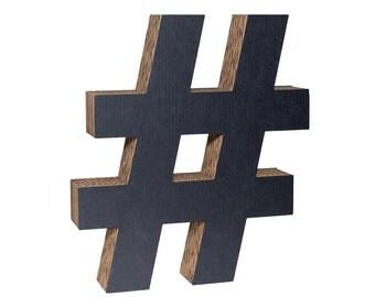 Cardboard Hashtag Black