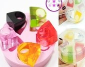 SALE 5 Flat Rectangle Ring Mold