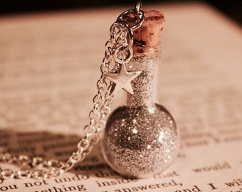 Star Dust Vial Necklace