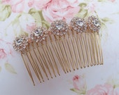 Rose Gold Bridal Hair Comb,Rhinestone Wedding Hair Comb,Bridal Hair Accessories,Wedding Accessories,Decorative Hair Comb,#C23