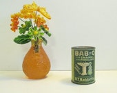 HAPPY HOLIDAYS SALE Antique Bab-O Powder, Enamel & Porclelain Cleaner, Original Sealed Tin with Contents