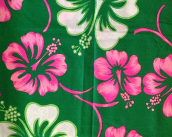 Vintage Hawaiian Floral Fabric