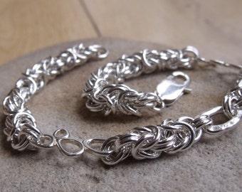 Sterling Silver and Link Bracelet