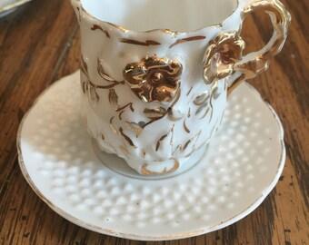 Vintage tea cup & saucer miniature