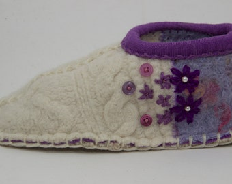 Womens slippers upcycled wool sweaters to sweet ladies slippers
