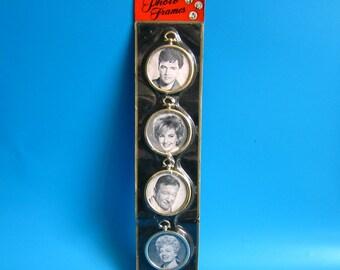 Vintage Link Picture PHOTO Frames 1950s 60s DAN DEE Imports nyc celebrities celebrity mid century kitsch elvis