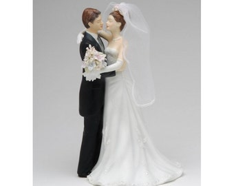 Classic Bride and Groom Wedding Cake Toppers -Any Themed Mr and Mrs Romantic Traditional Woodsy Victorian Jewish Couple Porcelain Figures