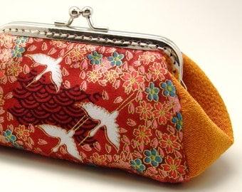 Cranes - Small clutch / Coin purse / card holder (S287) R1
