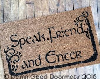 COMMAS TREES Tolkien - Speak Friend and Enter- eco friendly geek stuff