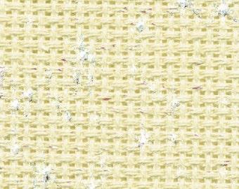 Aida 14 count Cream Iridescent  Aida from DMC 55 x 50 cms-cross stitch fabric