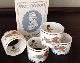Wedgwood Napkin Rings Set of Four