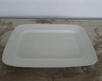 White Ironstone Platter Rectangle platter Simply White Decor Farmhouse Farm House Rustic Prairie Country Cottage Chic Farm