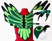 Green Falcon Costume. Wings, Hat, Feet.