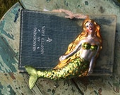 Sweet ViNtAgEy Mercury Glass Mermaid Ornament
