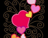 SWEETHEARTS #2- 1 Machine Embroidery Design Instant Download 4x4 5x7 6x10 hoop (AzEB)