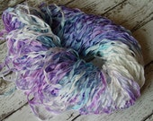 NeW Hand Dyed Ribbon - ARTIC HORIZON frosted edge ribbon, 5 yards