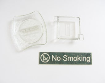 non smoking . smoke all you want . lot of glass ashtrays and signs .sale s a l e