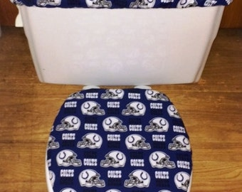 Indianapolis Colts Toilet Seat Cover and Tank Lid Cover Set