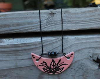 ceramic necklace - bloom