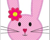 Easter Bunny Face Machine Embroidery Applique Design