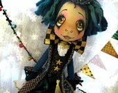 RESERVE final payment for Debra  on Custom Urchin 'Fandango' art doll Carnival