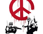 Peace Police BANKSY Unofficial Custom T Shirt