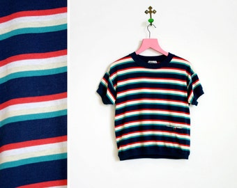Vintage 1990s Lord Isaacs Classic Stripe T Shirt Size M