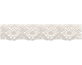 1-7/16  Inch Spider Cluny Lace by the Yard  WRI1862438030 Ecru