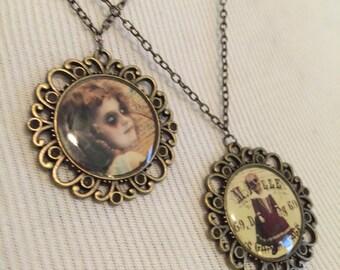Vintage Antique Brass Necklaces