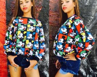 Vintage Mickey Mouse Poo Art Sweatshirt