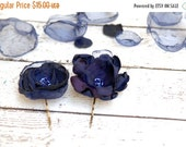 SALE 50% Blue flower hair pins, Navy blue flower bobby pins, gift for girls Holiday, gift Under 20