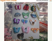 50% OFF - BUGS and ANIMALS - 130 pcs Polymer Clay Slices