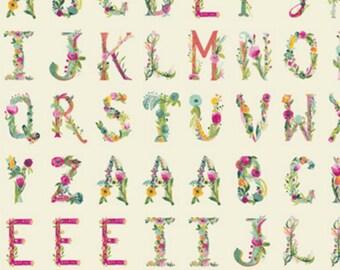 Art Gallery - Joie de Vivre Collection by Bari J - Joyeux Alphabet Panel in Multi