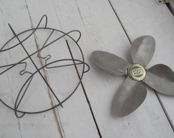 1950s Vintage Little Giant Electric Fan Cage and Blades