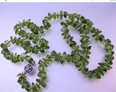 "15% OFF SALE Vintage Peridot Uncut Necklace 21"" White Filigree GF Clasp Jewelry Jewellery"