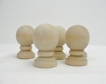 Large wooden ball finial set of 5