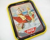 RESERVED for Diane S - Vintage Coke Tray, Coca Cola, seashore, fisherman, girl, 1987
