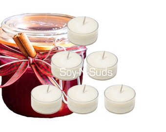 Soy Tea Lights, Soy Candles, SPICED CRANBERRY, Dye Free, T Lites, CRANBERRY Candles, 6 Pack, White Candles, Scented, Fall Candles