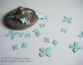Flower CONFETTI. 100 Blue Hand Punched Flowers for Weddings etc. - Biodegradable and Eco Friendly. Hand Punched in Ireland