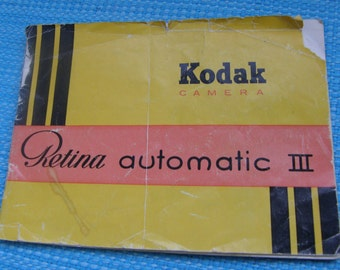 Vintage Kodak Retina Automatic III Original Instruction Book