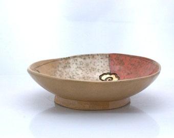 Large ceramic bowl - Fruit bowl -  Handmade pottery - Wedding gift  - Stoneware bowl - House warming gift  - READY to SHIP
