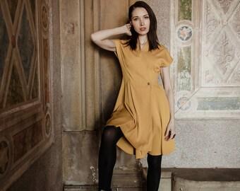 swing pleat rockabilly celeb inspired dress custom made