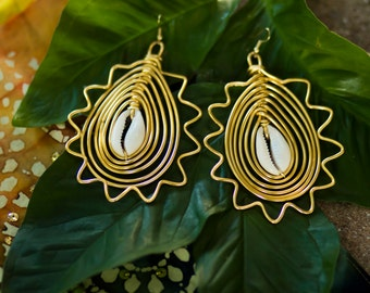 Sun Empress Statement earrings