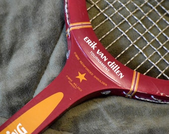 Vintage Erik Van Dillen Tournament Woodstar Tennis Racket by Spalding