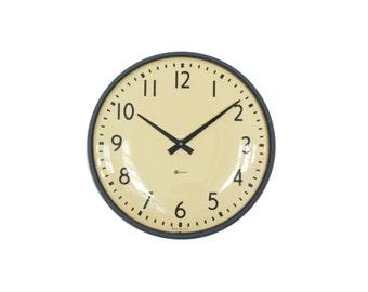 Simplex Wall Clock - Vintage Industrial Decor - Thin Frame